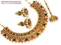 Colourful Broad Polki Necklace