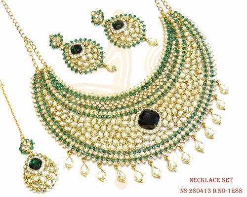 Antique Designer Polki Necklace Set