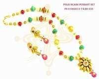 Polki Beads Pendant Set