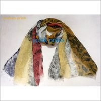 Linen Hand Painting Stoles