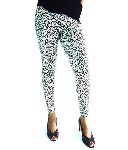 White Leopard Print Leggings