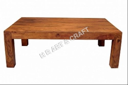 Modern Solid Wood Square Coffee Table