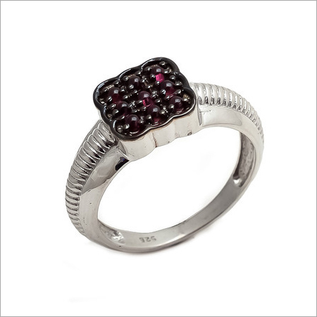 Natural Garnet Gemstone Men Ring