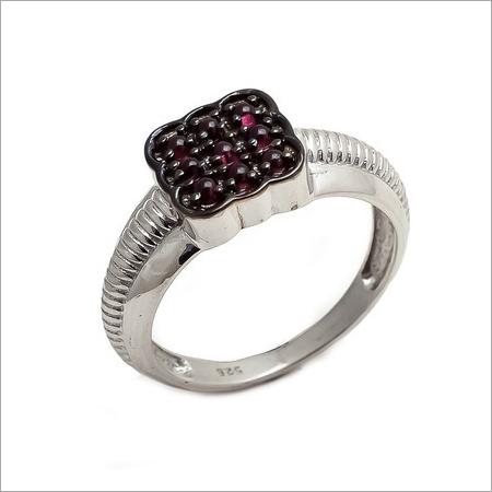 Natural Garnet Gemstone Men Ring