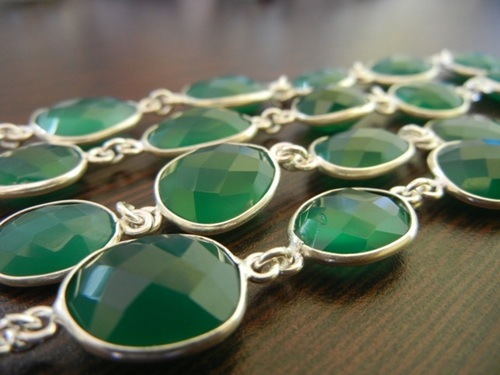 Green Onyx Station Chain