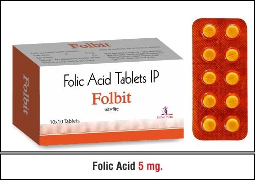 Folic Acid - 5mg.