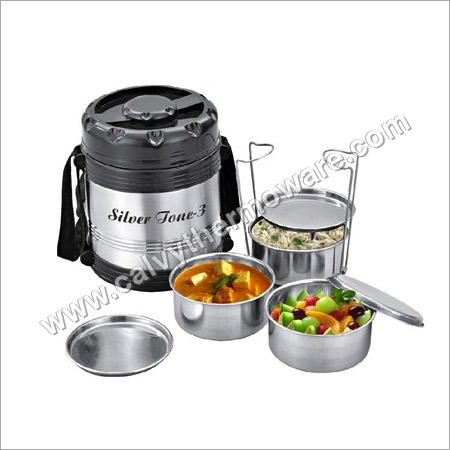 Lunch Box With Silver Container