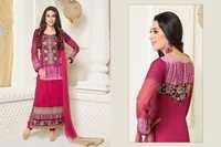 Karishma Kapoor Magenta Georgette Churidar Salwar Suit