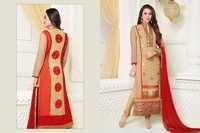 Karishma Kapoor Cream Georgette Churidar Salwar Suit
