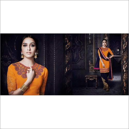 Shraddha Kapoor Gold Georgette Patiala Suit