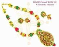 Exclusive Balaji and Laxmi Pendant Set