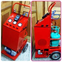 Car AC Recovery, Recycling, Evacuating & Charging Machine.