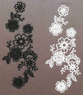 Flock Heat Transfer Stickers Lace Motif Patches