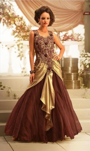 Latest bridal Brown Gown