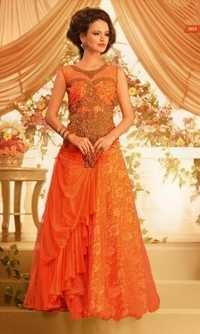 Elegent Orange Long Gown