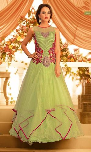 Beautiful Indian Liril Green Gown