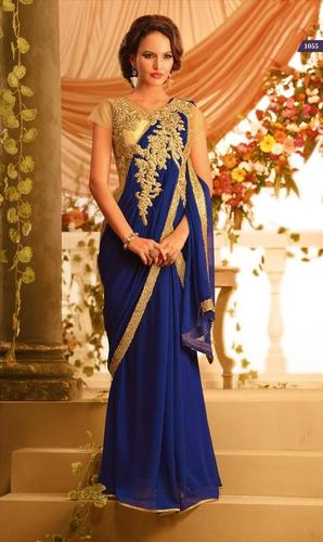 Ethnic Bridal Blue Saree
