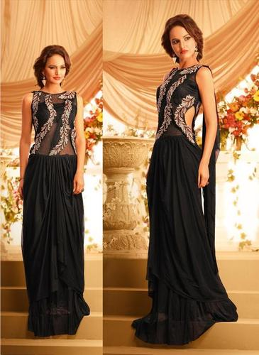 Elegent Black Net Gown