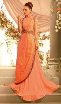 Beautiful Indian Orange Gown
