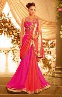 Ethnic Pink and Orange Gown
