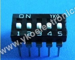 5 Way Dip Switch