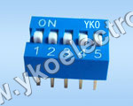 5 Way Piano Type Dip Switch