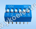 6 Way Slide Type Dip Switch