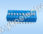 10 Way Slide Type Dip Switch