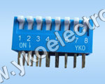 8 Way Slide Type Dip Switch