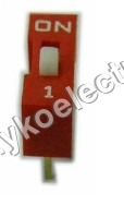 One Way Dip Switch in Red
