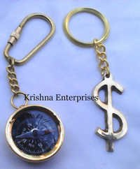 Compass With Dollar Key Ring