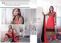 Neha Sharma Hot Pink Embroidery Work Churidar Suit
