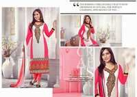 Neha Sharma Off White And Pink Georgette Salwar Suit