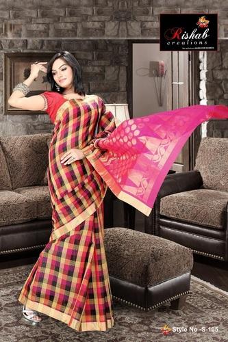 Pure Fancy Cotton Saree