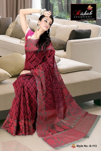 Fancy Cotton Sarees - S 113