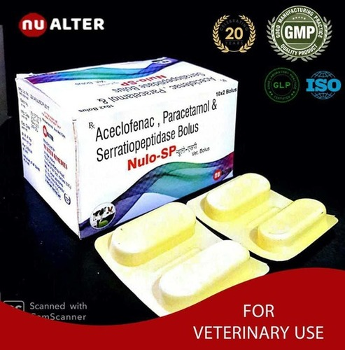 Aceclofenac Paracetamol Serratiopeptidase Bolus