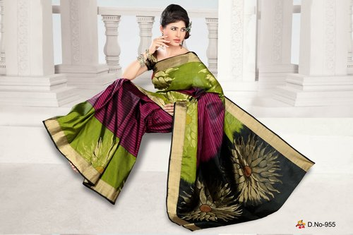 Fancy Border Silk Sarees - D 955