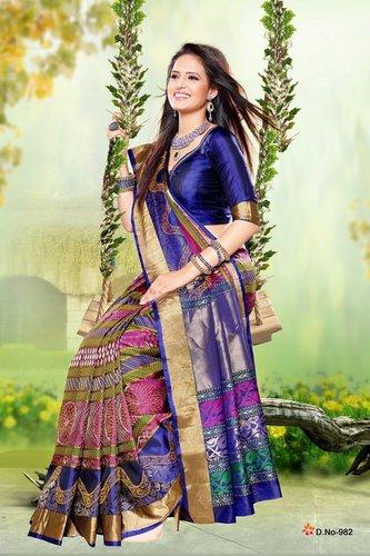 Fancy Silk Sarees - D 982