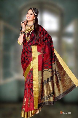 Fancy Silk Sarees - D 984