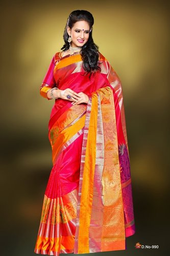 Fancy Silk Sarees - D 990