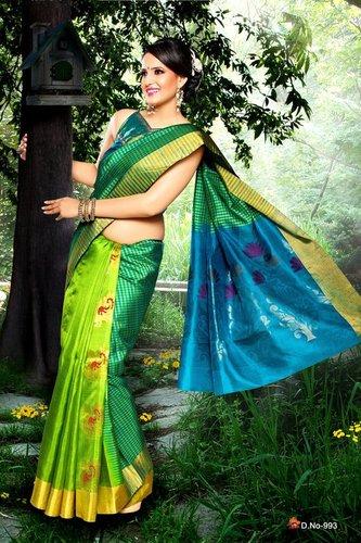 Fancy Silk Sarees - D 993