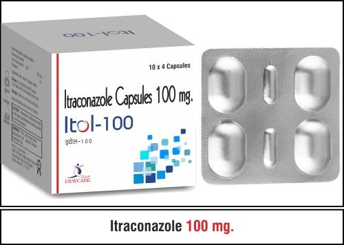 Itraconazol Capsule 100 mg.