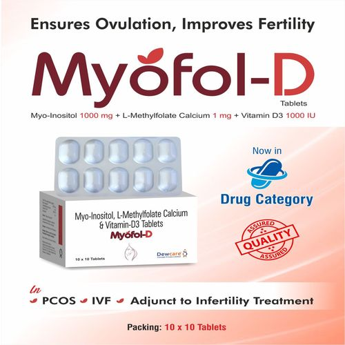 Myo-Inositol...2000mg +  L-Methylfolate Calcium...0.451mg + Vitamin-D3 Powder...1000 I.U.