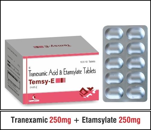 Tranexamic 250 mg + Etamsylate 250 mg.