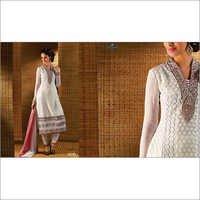 Radiant Off White Georgette Churidar Suit