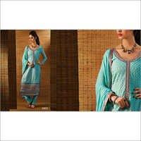 Turquoise Blue Georgette Salwar Suit