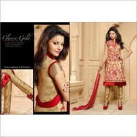 Awesome Beige Georgette Churidar Salwar Suit