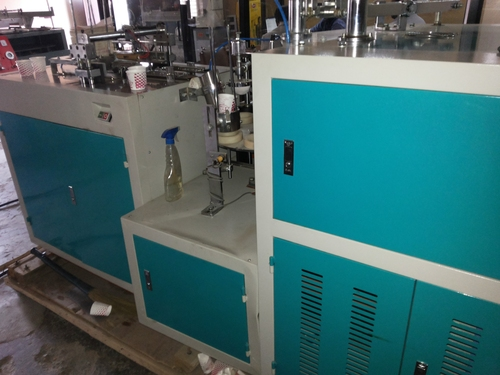 EXCELLENT COUNDITION PAPER CUP RXZ 1510 MACHINE & MOULDS  URGENTLY SALE IN BALAGHAT M.P