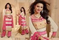 Off White And Pink Georgette Pakistani Suit