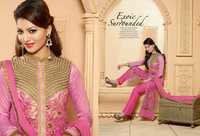 Charming Pink Georgette Pant Style Suit